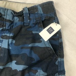 d0ec7ece35 GAP Bottoms | Nwt Boys Blue Camo Cargo Shorts 14 Regular | Poshmark